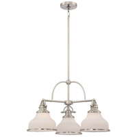 Grant 3 Light 24 inch Brushed Nickel Chandelier Ceiling Light