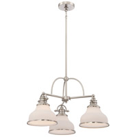Quoizel Grant 3 Light Chandelier in Brushed Nickel GRT5103BN