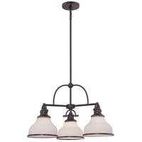 Quoizel GRT5103PN Grant 3 Light 24 inch Palladian Bronze Chandelier Ceiling Light
