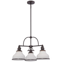 Quoizel Grant 3 Light Chandelier in Palladian Bronze GRT5103PN