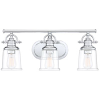 Quoizel GRT8603C Grant 3 Light 23 inch Polished Chrome Bath Light Wall Light, Large