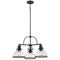 Quoizel GRTS5103PN Grant 3 Light 24 inch Palladian Bronze Dinette Chandelier Ceiling Light