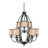 Quoizel Lighting Grayson 9 Light Chandelier in Serengeti GRY5009SN photo thumbnail