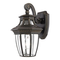 Quoizel Lighting Georgetown 1 Light Outdoor Wall Lantern in Imperial Bronze GT8980IB