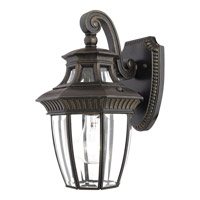 Quoizel Georgetown 1 Light Outdoor Wall Lantern in Imperial Bronze GT8980IBFL