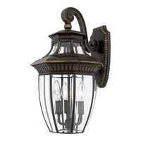 Quoizel Lighting Georgetown 3 Light Outdoor Wall Lantern in Imperial Bronze GT8981IB