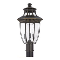 Quoizel Lighting Georgetown 3 Light Outdoor Post Lantern in Imperial Bronze GT9294IB
