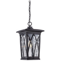 Quoizel Grover 1 Light Outdoor Hanging Lantern in Mystic Black GVR1910K