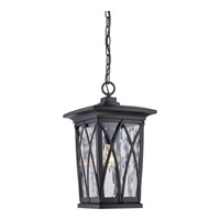 Quoizel Grover 1 Light Outdoor Hanging Lantern in Mystic Black GVR1910KFL