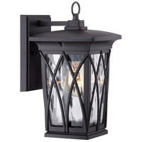 Quoizel GVR8406K Grover 1 Light 11 inch Mystic Black Outdoor Wall Lantern in Standard