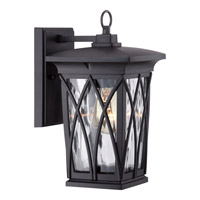 Quoizel Grover 1 Light Outdoor Wall Lantern in Mystic Black GVR8406KFL