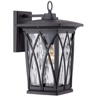 Quoizel Grover 1 Light Outdoor Wall Lantern in Mystic Black GVR8408K