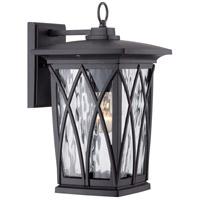 Quoizel GVR8408K Grover 1 Light 15 inch Mystic Black Outdoor Wall Lantern in Standard