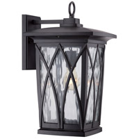 Grover 1 Light 18 inch Mystic Black Outdoor Wall Lantern in Standard