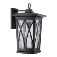 Grover 1 Light 18 inch Mystic Black Outdoor Wall Lantern in Fluorescent