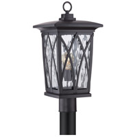 Quoizel Grover 1 Light Outdoor Post Lantern in Mystic Black GVR9010K