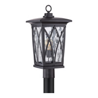 Quoizel Grover 1 Light Outdoor Post Lantern in Mystic Black GVR9010KFL