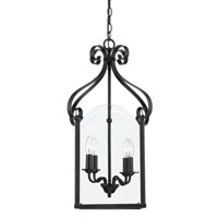 Quoizel Lighting Gentry 4 Light Chandelier in Mystic Black GY5204K