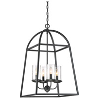 Quoizel GZ5204GK Gazebo 4 Light 17 inch Grey Ash Foyer Pendant Ceiling Light