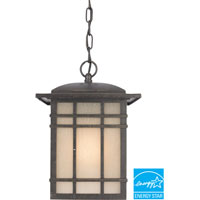 Hillcrest 1 Light 9 inch Imperial Bronze Outdoor Hanging Lantern in Fluorescent