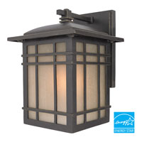 Hillcrest 1 Light 10 inch Imperial Bronze Outdoor Wall Lantern in Fluorescent