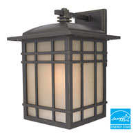 Hillcrest 1 Light 17 inch Imperial Bronze Outdoor Wall Lantern in Fluorescent