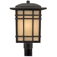 Hillcrest 1 Light 17 inch Imperial Bronze Outdoor Post Lantern in Standard