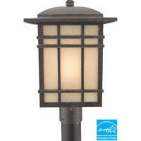 Hillcrest 1 Light 17 inch Imperial Bronze Outdoor Post Lantern in Fluorescent