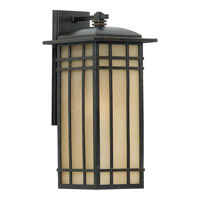 Quoizel Hillcrest 1 Light Outdoor Wall Lantern in Imperial Bronze HCE8509IBFL
