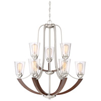 Holbeck 9 Light 31 inch Brushed Nickel Chandelier Ceiling Light
