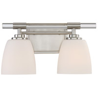 Highfield 2 Light 14 inch Brushed Nickel Bath Light Wall Light