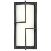 Huger LED 14 inch Mottled Black Outdoor Wall Lantern