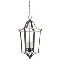 Quoizel HGT5204EK Highgate 4 Light 18 inch Earth Black Foyer Chandelier Ceiling Light