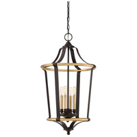 Quoizel HGT5204WT Highgate 4 Light 18 inch Western Bronze Foyer Chandelier Ceiling Light