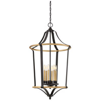 Highgate 6 Light 22 inch Western Bronze Foyer Chandelier Ceiling Light