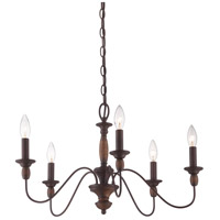 Holbrook 5 Light 24 inch Tuscan Brown Chandelier Ceiling Light