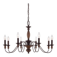 Quoizel HK5008TC Holbrook 8 Light 29 inch Tuscan Brown Chandelier Ceiling Light alternative photo thumbnail