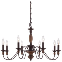 Quoizel Lighting Holbrook 8 Light Chandelier in Tuscan Brown HK5008TC