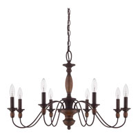 Quoizel Lighting Holbrook 8 Light Chandelier in Tuscan Brown HK5008TC alternative photo thumbnail