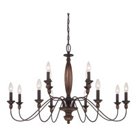 Quoizel Holbrook 12 Light Chandelier in Tuscan Brown HK5012TC