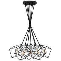 Holograph 7 Light 17 inch Earth Black Pendant Ceiling Light