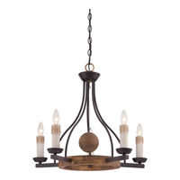Quoizel Hampshire 5 Light Chandelier in Western Bronze HMP5005WT
