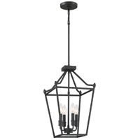 Quoizel HMT5204EK Hammerton 4 Light 12 inch Earth Black Foyer Chandelier Ceiling Light