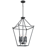 Hammerton 6 Light 18 inch Earth Black Foyer Chandelier Ceiling Light