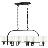 Quoizel HOL641EK Holden 6 Light 41 inch Earth Black Linear Chandelier Ceiling Light