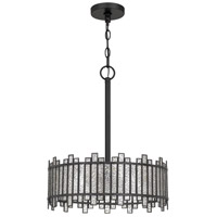 Quoizel HRT2816MBK Hartman 3 Light 16 inch Matte Black Pendant Ceiling Light