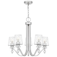 Quoizel HS5026PK Hollister 5 Light 26 inch Polished Nickel Chandelier Ceiling Light