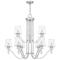 Quoizel HS5034PK Hollister 9 Light 34 inch Polished Nickel Chandelier Ceiling Light