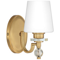 Quoizel HS8601WS Hollister 1 Light 8 inch Weathered Brass Bath Light Wall Light