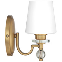 Quoizel HS8601WS Hollister 1 Light 8 inch Weathered Brass Bath Light Wall Light alternative photo thumbnail